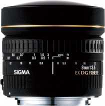 Объектив Sigma 8mm f/3.5 EX DG fisheye for Nikon