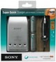 Зарядное устройство для AA, AAA Sony Super Quick Charger (Car adapter) + 4*AA 2500mAh (BCG-34HVE4N)