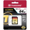 SDXC Transcend 64 Gb Ultimate UHS-I Class 10 U3 Great for 4K Video (TS64GSDU3)