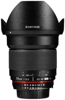 Неавтофокусный объектив Samyang 16mm F2.0 ED AS UMC CS Canon EF